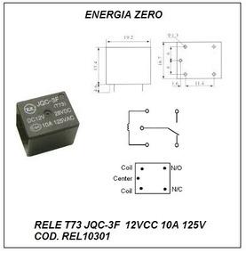 Rele 12vcc 10a 1cnt Rev. T73 Pac 2pçs Cod. Rel10301