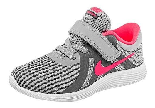 Tenis Nike Revolution 4 (gtv) Gris Tallas De #11 A #16 Bebes
