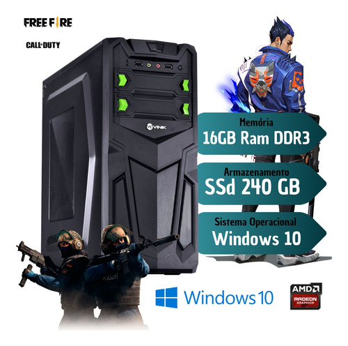 Imagem 1 de 1 de Pc Gamer Core I7 4th 16gb Ram Ssd 240 Video 2gb Off 600w !!