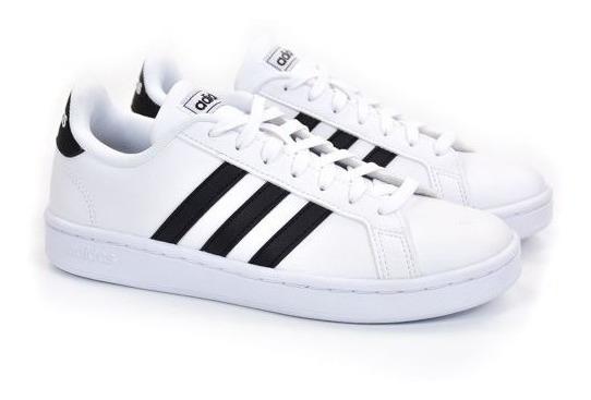 E Tenis Grand Court W Branco/preto 34a39 adidas 21801