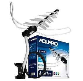 Antena Externa Para Tv 4 Em 1 Hdtv Digital/uhf/vhf/fm - Kit
