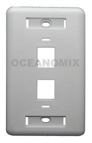 10x Espelho 4x2 2 Portas Keystones Rj45 Rj11 Rede Lan Branco