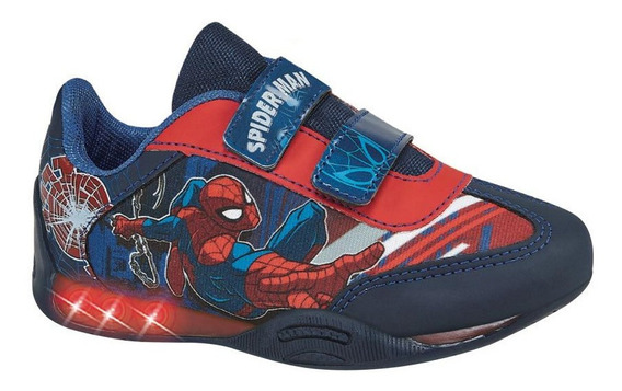 Tenis Casual Niño Spiderman 5640 Color Azul