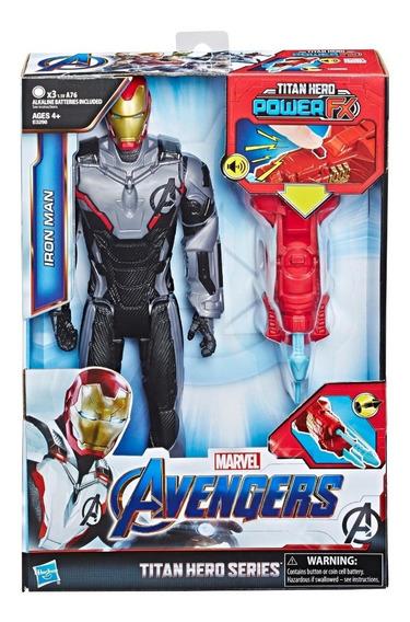 Figura Iron Man Power Fx Con Lanzador Y Sonido Avengers