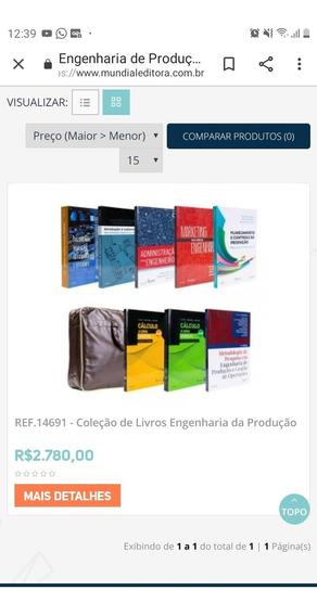 Livros Engenharia De Produção Mundial