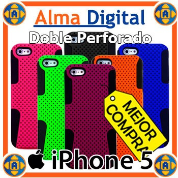 Forro Doble Perforado iPhone 5 5s Estuche Funda Carcasa