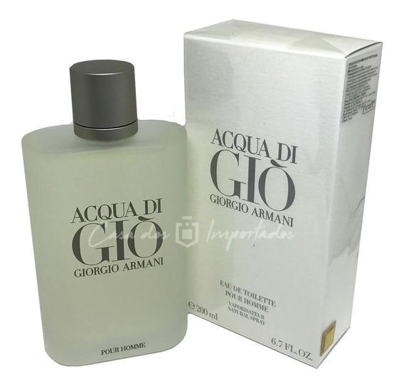 Acqua Di Gio 200ml Masculino | Original + Amostra De Brinde