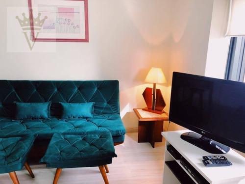 Imagem 1 de 11 de Flat Com 1 Dormitório Para Alugar, 35 M² Por R$ 1.800,00/mês - Jardim Paulista - São Paulo/sp - Fl0022