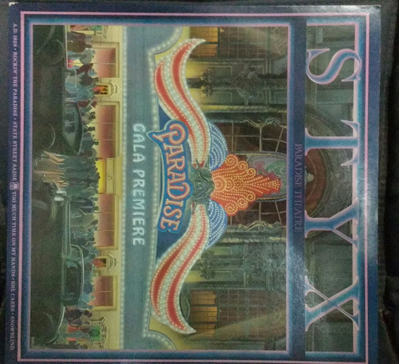 Lp Vinil Styx Paradise Theater Americano Laser Etched