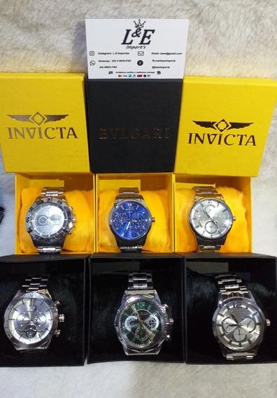 Kit 3 Relógios Masculinos/femininos Aço (alto Padrão/luxo)