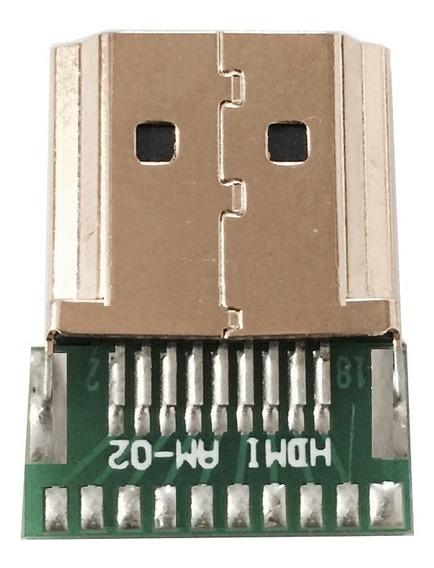 Conector Hdmi Para Reparo De Cabo Modelo Em Fibra