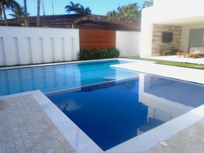 Moderna Mansão No Jardim Acapulco Em Guarujá (sp), Com Área Gourmet Externa, Piscina, Jacuzzi, Sofisticado Home Theater, Além De Seis Suítes - Ca00055 - 4707378