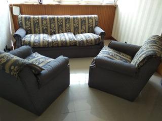 Juego De Living 3 Cuerpos +1 + 1 Sillon Sofa Impecables
