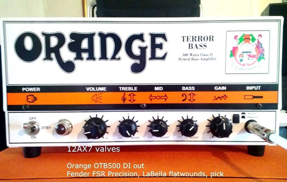 Cabeçote Orange Bass Terror 500w Valvulado P/ Contra Baixo