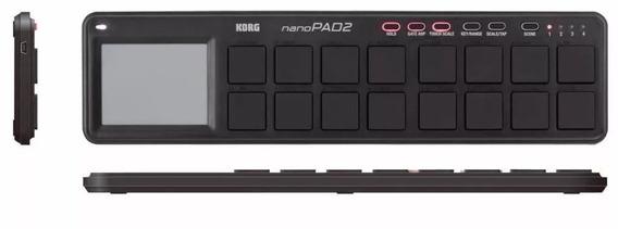 Korg Nanopad 2 Preto - Controlador Midi Usb Pads
