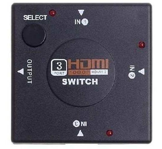Hub Switch Hdmi 3 Entradas Portas 3x1 Amplificador Splitter