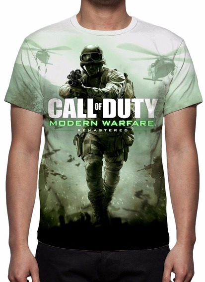 Camisa, Camiseta Game Call Of Duty Modern Warfare Remastered
