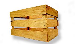 1 Cajas Huacal De Madera De Pino 50x33x30 Rustico Natural