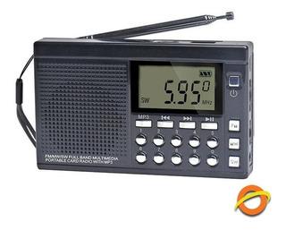 Radio Portatil Recargable Fm Sw Memorias Aire Libre Digital