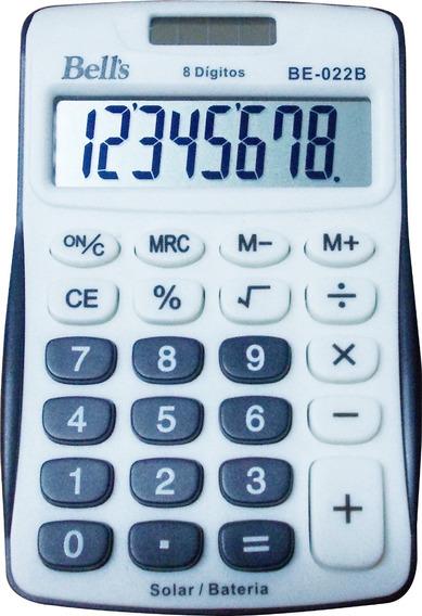 Kit Com 6 Calculadoras De Bolso Bells Be-022b 8 Dígitos