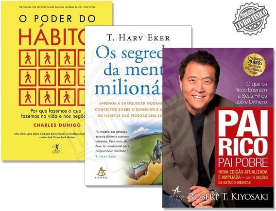 Kit O Poder Do Hábito + Os Segredos Da Mente Milionária + Pa