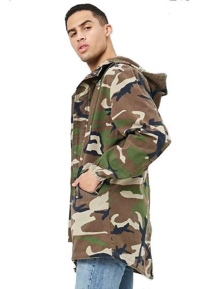 Chamarra Forever 21 Militar Camuflaje Hombre Chaqueta F21