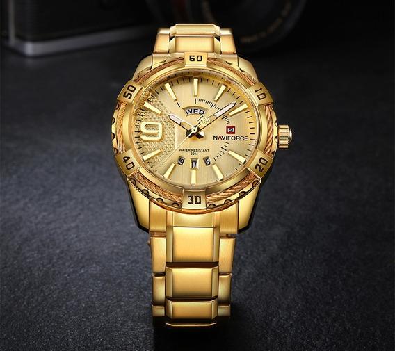 Relógio Naviforce Nf9117 Gold