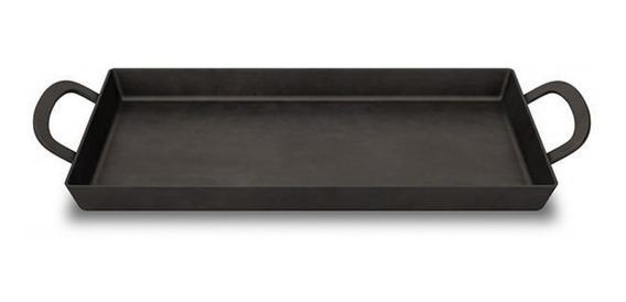 Plancha Plancheta Bifera Cocina Hierro Jec Doble 50x26 4mm Oferta La Mejor