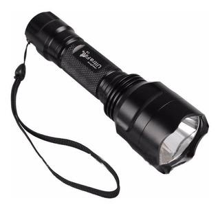 Kit Lanterna Tática Ultrafire C8 Led Xm-l T6+suporte P/ Bike