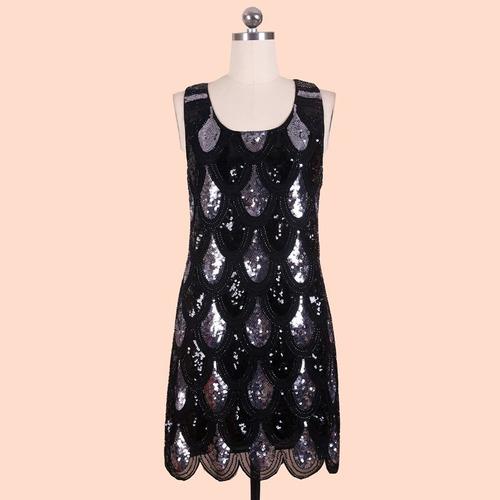 Vestido De Fiesta Negro Y Dorado Talla M Nuevo En Stock