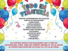 Combo De Piñatas Chupeteros Bienvenido Marco Para Selfies