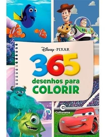 Livro De Pintar Personagens Disney Com 365 Desenhos Colorir