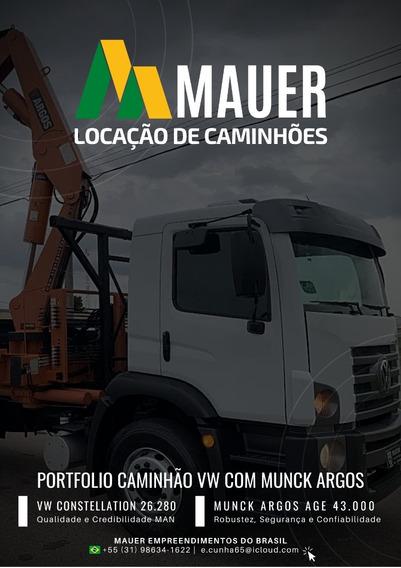Caminhão Munck Vw 26.280 6x4 2020 Zero Km Munck Argos 43.00