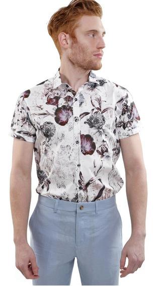 Camisa Ligera Manga Corta Hombre Varios Colores Lob