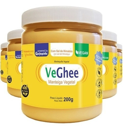 Imagem 1 de 1 de Kit 5 Und Veghee Manteiga Vegana Sem Sal 200g