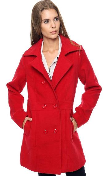 Tapado Saco Abrigo Mujer Paño Rojo Negro Camel Micro Centro
