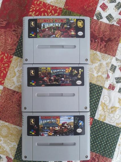 Trilogia Donkey Kong Country 1, 2 E 3 Salvando