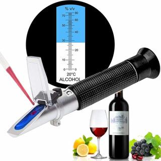 Refractómetro Alcohol Alcoholímetro Medidor 0-80% V/v Atc