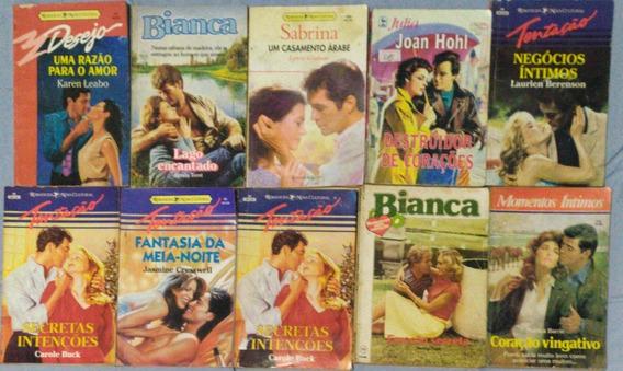 Lote 10 Livros Romances Sabrina, Bianca, Julia, Tentação