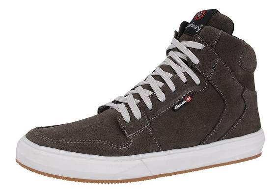 Sapatos Masculino Sapatenis Em Couro Cano Alto Frete Grátis