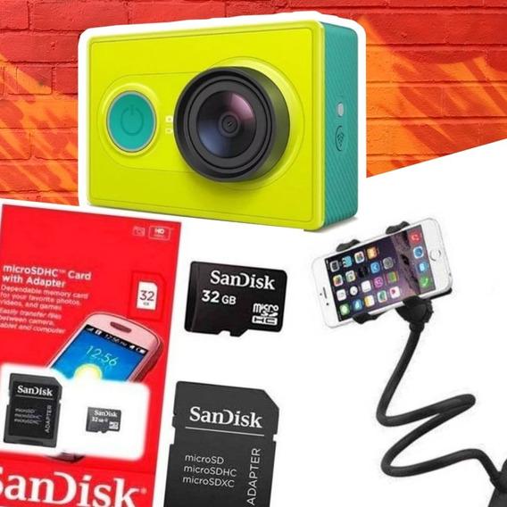 Kit: Câmera Yi Xiaomi + Tripé + Cartão De 32gb