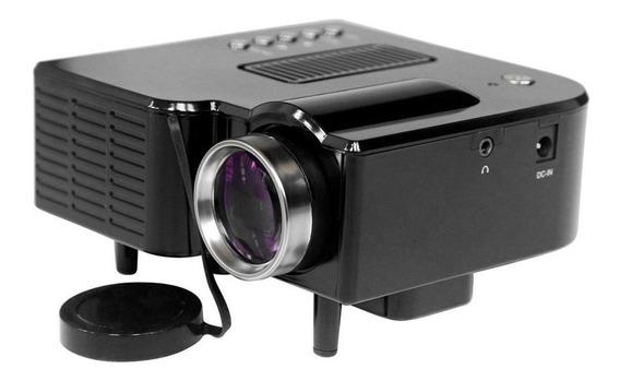 Mini Projetor Portatil Led 320x240 100pol Usb 48 Lumens