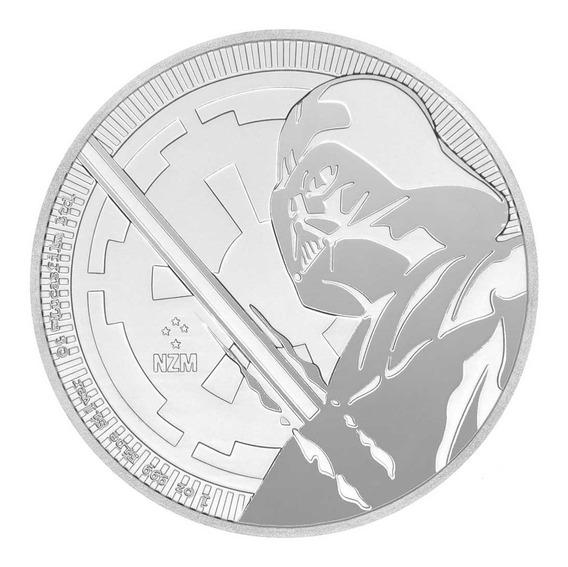 Moneda Darth Vader Star Wars 1 OnzaPlata 999. New Zealand