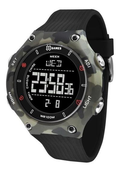 Relógio X-games Masculino Digital Camuflado Xmppd566 Pxgx