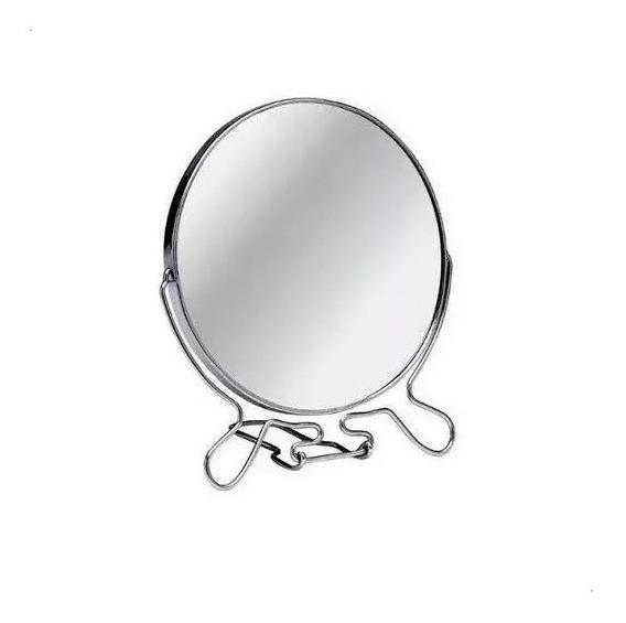 Espejo Redondo 20 Cm Maquillaje 2 Caras C/aumento 3x