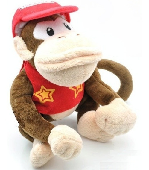 Diddy Kong De Pelucia - Nintendo Super Mario