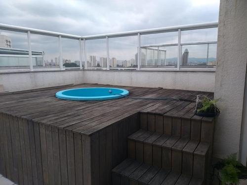 Cobertura Com 3 Dormitórios À Venda, 122 M² Por R$ 700.000,00 - Tatuapé - São Paulo/sp - Co0239