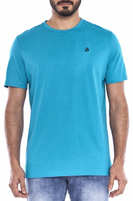 Camisa Masculina T-shirt M/c Turquesa Malha Tassa Original