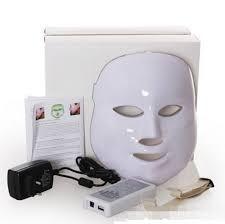 Máscara Facial Led Branca 7 Cores Estetica Facial Fretegrats