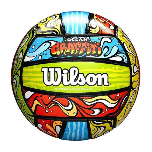 Pelota De Voley Wilson Ocean Graffiti Sintética